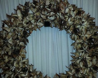 "18"" Cotton Bur Wreath"