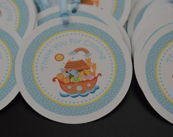 Noahs Ark Favor Tags - Hang Tags - Noahs Ark Thank You Tags - Set of 12