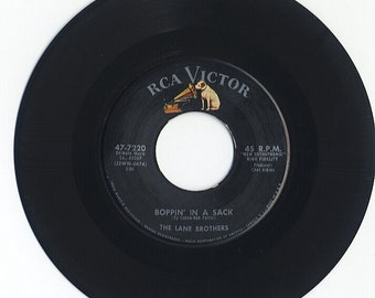 Lane Brothers 'Boppin' In A Sack/Somebody Sweet' Rockabilly 45 rpm 7 inch 1958