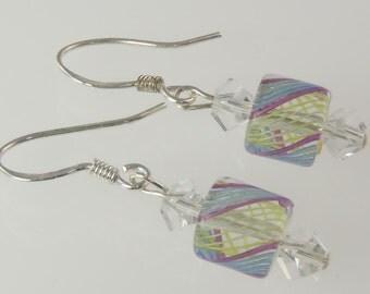 Artisan - Sterling Silver Furnace Glass Earrings E095