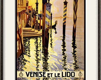Venice art print Italian art  antique wall travel print travel art Wall poster art old prints home decor wall italian decor travel decor