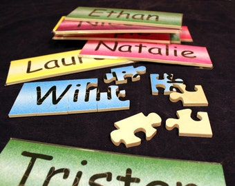 Custom Made Wooden Name Jigsaw Puzzles