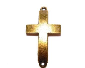 Cross Connectors, Large Cross Connector, Spiritual Connectors, Cross Charms, Bronze Cross Connectors, Cross for Bracelets BC0046