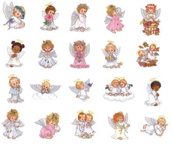 Watercolor Angels Embroidery Designs - PES jef hus VP3 vip - 20 designs
