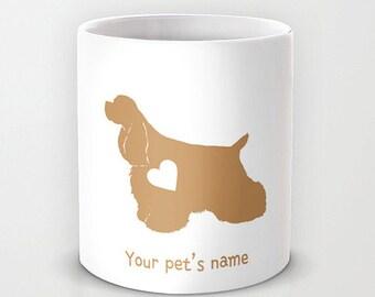 Personalized 11oz/ 15oz mug cup designed PinkMugNY - Cocker Spaniel