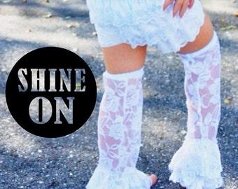 White Lace Leg Warmers