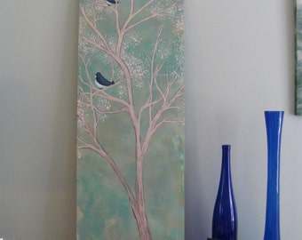 BLUEBIRD of HAPPINESS sitting in a tree Painting