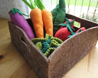 Vegetable BASKET of cloth