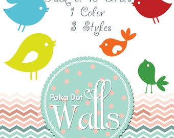 Cute Birds Decals in a Pack-Nursery Wall Decals-Kids room decal-Ornate wall Decals-birds-Twitter birds Stickers-birds Wall Stickers