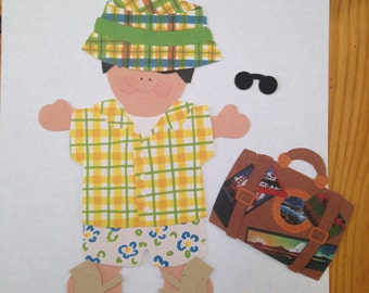Paper Doll Boy Vacation & Travel