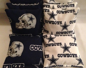 DALLAS COWBOYS 8 Cornhole Bags 4 of each print 2 sides