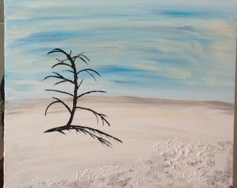 "Titled: Winter Tree  - Original Acrylic Abstract Painting - 20"" x 24"""