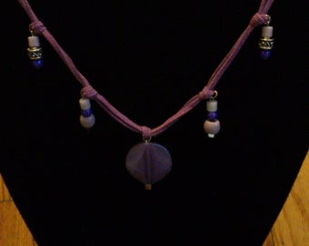 Chic Boho Purple Cord Necklace