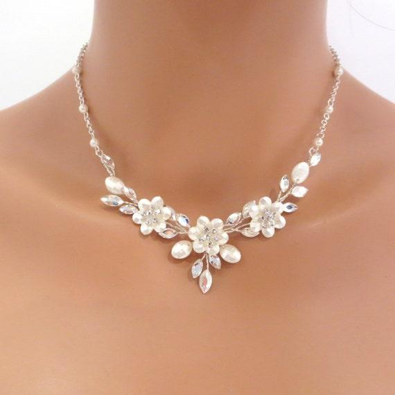 swarovski bridal necklace and earrings set wedding