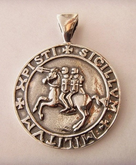 Heavy knights templar seal pendant sterling silver 925 description heavy knights templar seal pendant mozeypictures Image collections