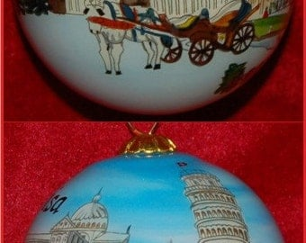 Leaning Tower of Pisa Christmas Ornament GOR101