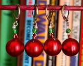 Deck the Halls- Red- Locking Stitch Markers - LittleKnittyBird