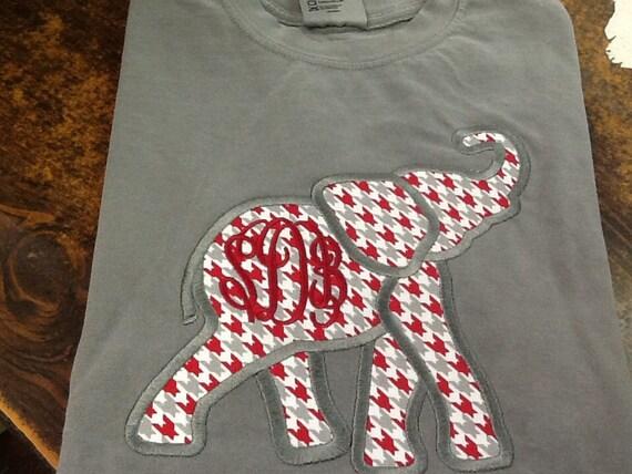 comfort colors monogrammed tshirt comfort colors elephant