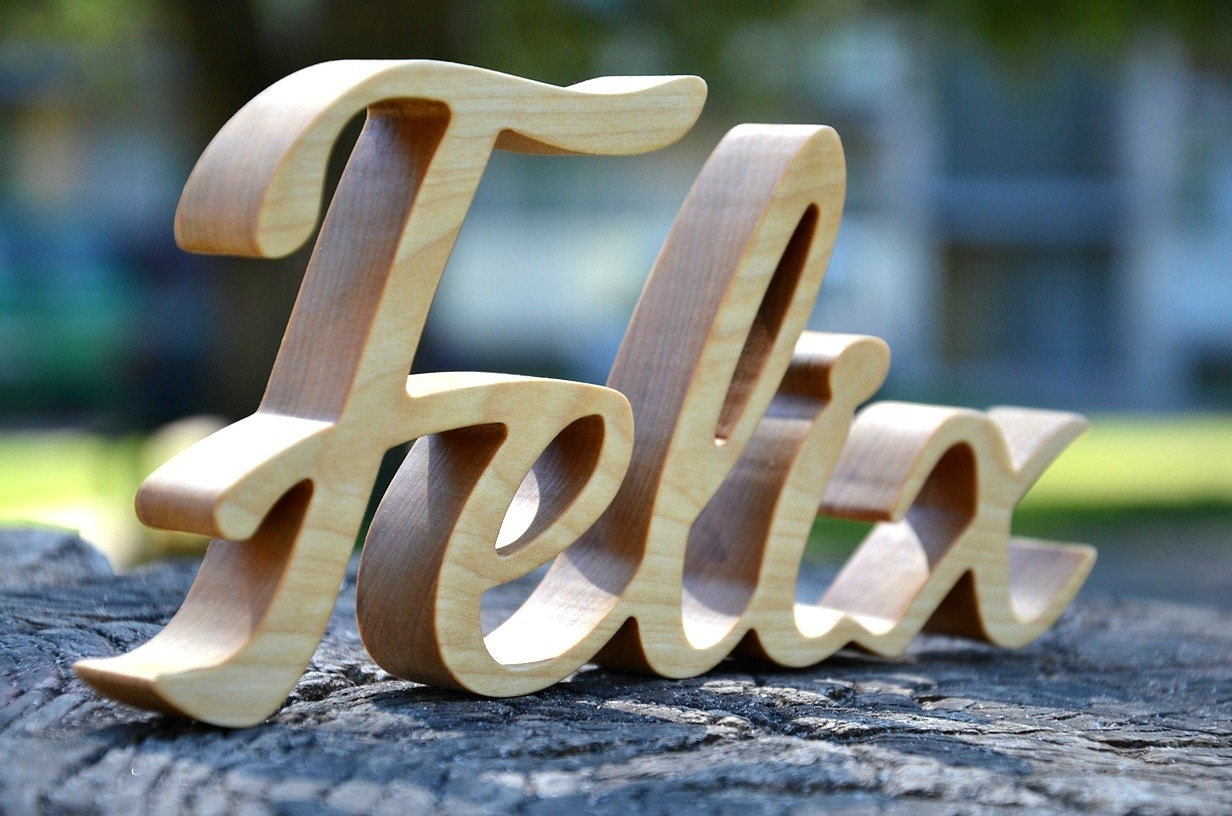 custom wood letters 5 inches custom free standing wood name script wood letters 21279