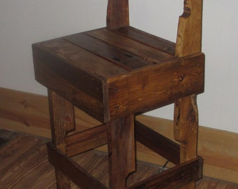 Items Similar To Nesting Pallet Bar Stool On Etsy