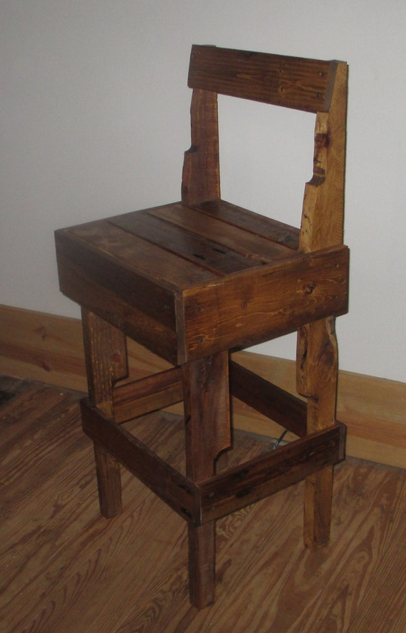 Items Similar To Bar Stool Refurbished Pallet On Etsy