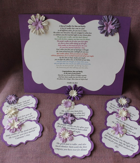 ... candle basket Poem Tags. Sentimental wedding gift. Shower Present