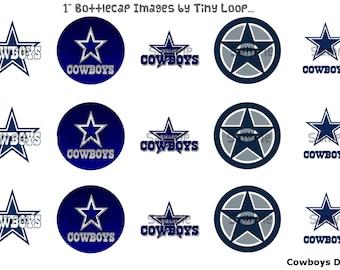 """15 Cowboys Dallas Bottlecap Images 1"""" Circle 4x6 Instant Download"""