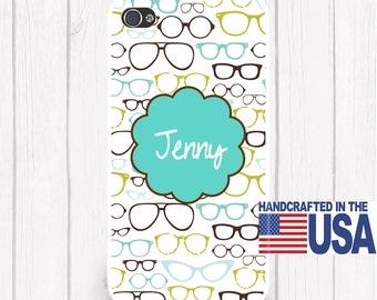 Trendy Glasses Phone Case Horn Rim Phone Case Your Choice Monogram iPhone 6/6S, iPhone 5/5S, iPhone SE, Samsung iPhone7 iPhone 7