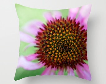 Pink and Green Pillow Covers 16 x 16, Floral Home Decor Pillows Decorative, Throw Pillow Covers 18x18, Nursery Pillow Covers 20x20