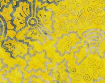 Timeless Treasures Tonga Batik Gelato Yellow Spirals Batik Fabric by the Yard B8425-YLW