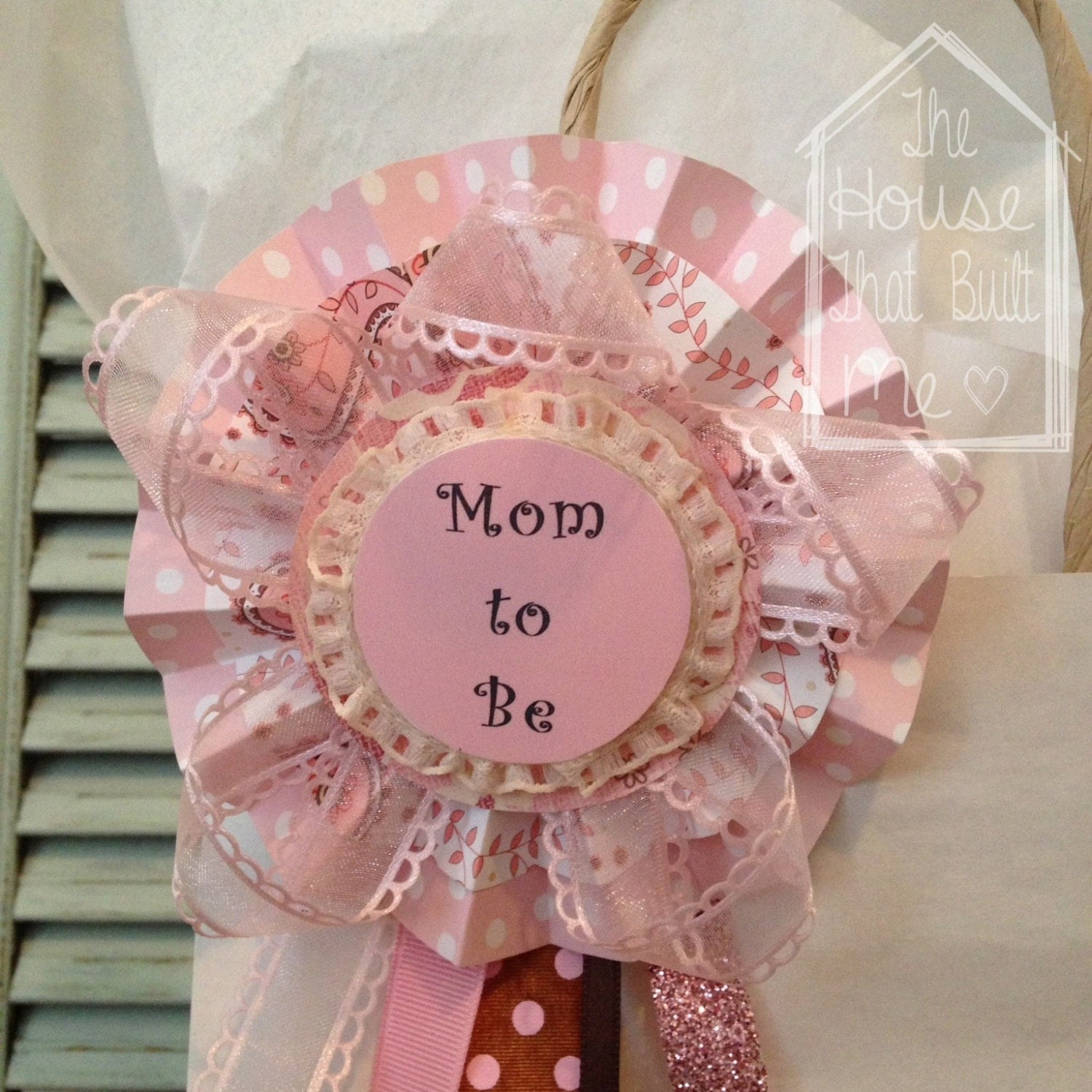 baby shower pin for baby girl mom to be gift bag
