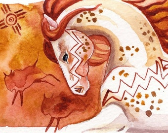 Indian Paint ACEO giclee print