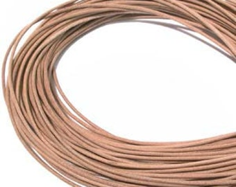 3 yd 2mm Greek Leather Cord - NATURAL - Hank