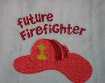 Future Firefighter burp cloth