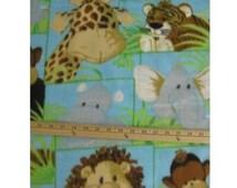 Jungle Baby Fleece Fabric By The Yard