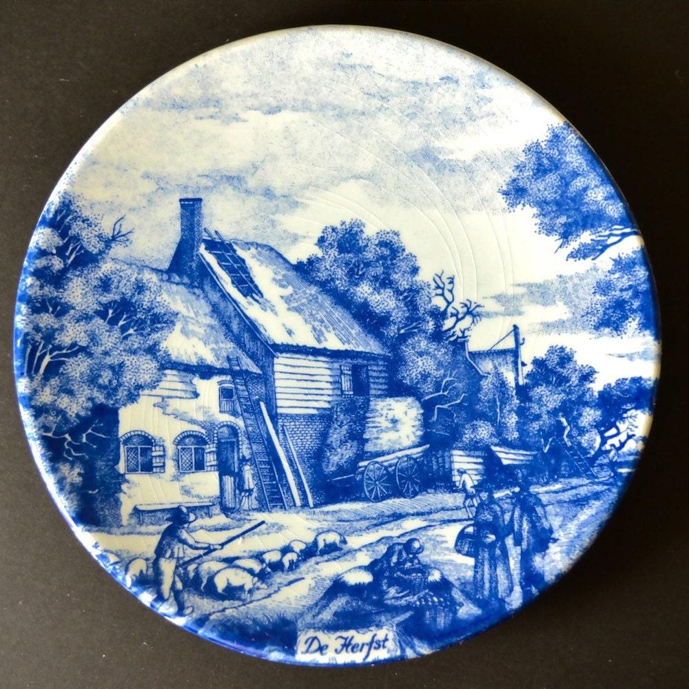 Delft Blue Collectors Plate Chemkefa Holland Delfts Blauw