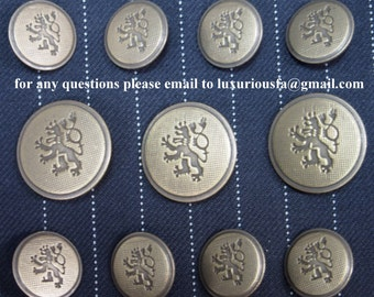 Antique Brass Blazer Buttons Set for suit jacket blazer or