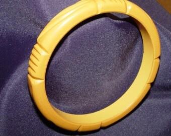 Bakelite bangel Bracelet, Butterscotch color