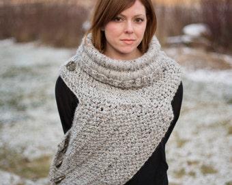 Huntress Shield Cowl - Crochet PATTERN ONLY