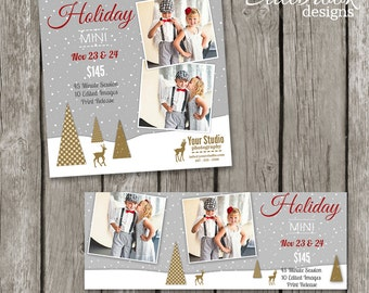 Christmas Mini Sessions Templates - Holiday Mini Session Marketing Board Facebook Cover - TS01