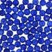 Vintage Czechoslovakian Matrix Beads,Lapis Blue #VIN023125