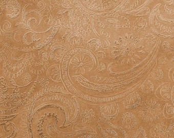 Etched Copper Sheet, Paisley Pattern, 24 gauge, 4 x 3 inches