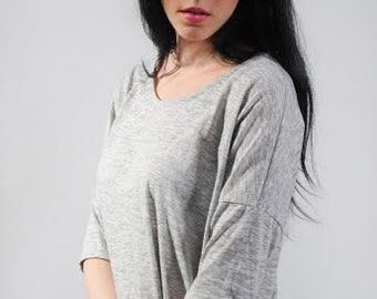 Asymmetrical Oversized T-Shirt Tunic
