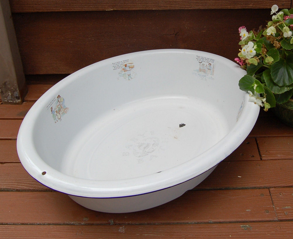 large white enamel baby bath tub basin. Black Bedroom Furniture Sets. Home Design Ideas