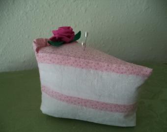 Strawberry  Piece of Cake Pincushion