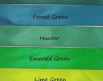 Green Satin RIbbon Samples