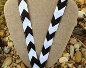 Black and White Chevron Lanyard Holder ID Badge Holder
