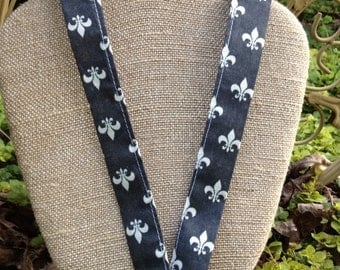 Lis. This stylish fleur-de-lis lanyard is  named for my sweet granddaughter Lisette!