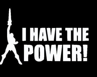 He-Man I Have the Power Masters of the Universe Vinyl Decal