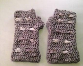 Handmade fingerless gloves.  Multiple Colors!